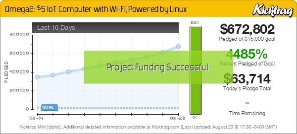 Omega2: $5 IoT Computer with Wi-Fi, Powered by Linux -- Kicktraq Mini