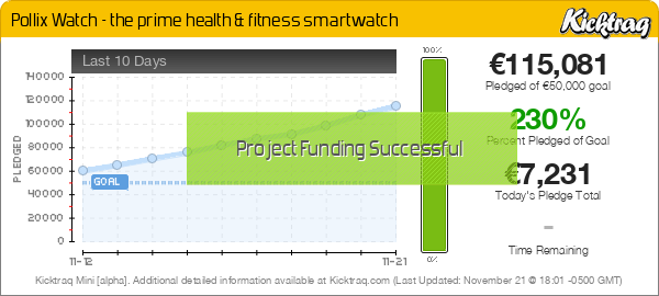 Pollix Watch - the prime health & fitness smartwatch -- Kicktraq Mini