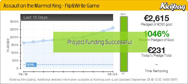 Assault on the Marmot King - Flip&Write Game - Kicktraq Mini