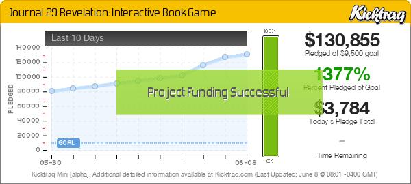 Journal 29 Revelation: Interactive Book Game -- Kicktraq Mini