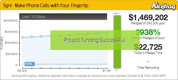 Sgnl - Make Phone Calls with Your Fingertip -- Kicktraq Mini