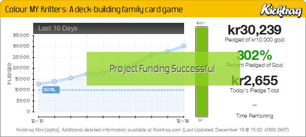 Colour MY Kritters: A Deck-Building Family Card Game - Kicktraq Mini