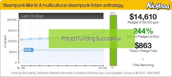 Steampunk World: A multicultural steampunk fiction anthology -- Kicktraq Mini