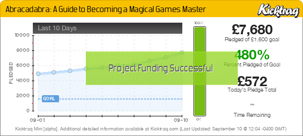 Abracadabra: A Guide to Becoming a Magical Games Master - Kicktraq Mini