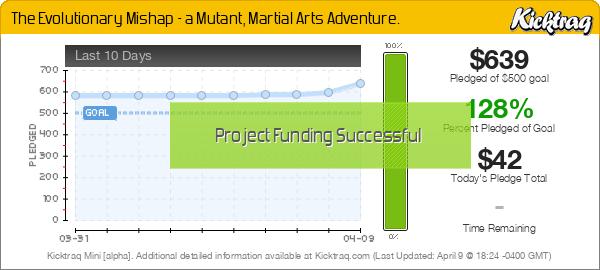 The Evolutionary Mishap - a Mutant, Martial Arts Adventure. - Kicktraq Mini