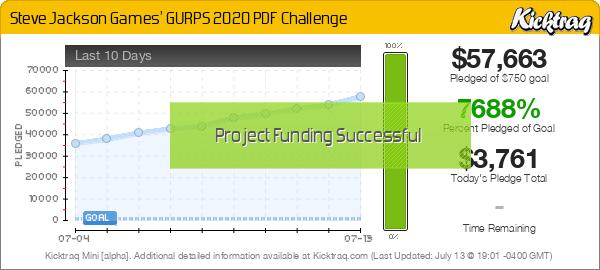 Steve Jackson Games' GURPS 2020 PDF Challenge - Kicktraq Mini
